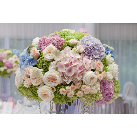 43872317 - flowers in a vase for the wedding ceremony. beautiful decoration